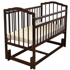 Кроватка-маятник продольный Malika Melisa-3 цвет: шоколад