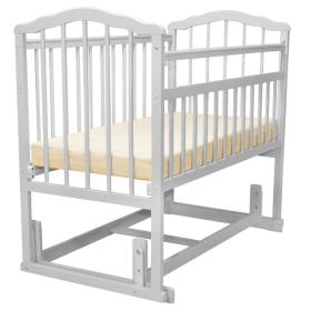 Кроватка-маятник поперечный Malika Melisa-4 цвет: белый