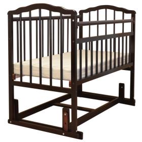 Кроватка-маятник поперечный Malika Melisa-4 цвет: шоколад