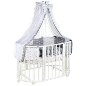 Комплект в овальную кроватку Евротек, Фея, 7 предметов, 38551 цвет: серый