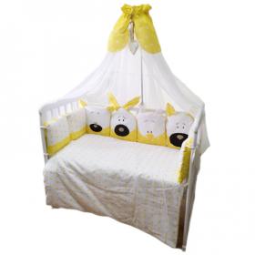 Комплект в кроватку Евротек, Игрушки, 7 предметов, 33043 цвет: желтый