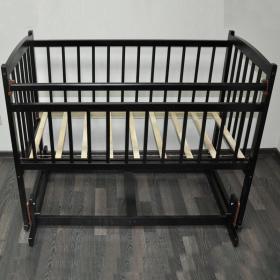 Кроватка-маятник поперечный Массив Беби-4, цвет: венге