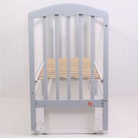 Кроватка-маятник+ящик Топотушки Сильвия-7 (46) цвет: серый/белый