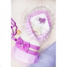 Одеяло-конверт на выписку Леди № 2 цвет: сиреневый