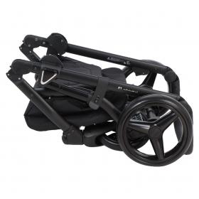 Коляска 2 в 1 Adamex Cortina, CT-116 цвет: темно-серый/серый/красный