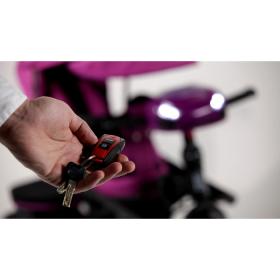 Велосипед трехколесный Baby Tilly Cayman с пультом T-381 цвет: фиолетовый
