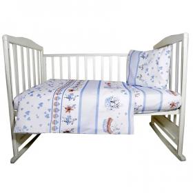 Комплект в кроватку Чаепитие 3 предмета, 10059 цвет: голубой