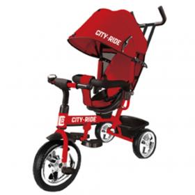 Велосипед трехколесный City-Ride, поворотное сиденье, пластиковые колеса CR-B3-01RD цвет: красный