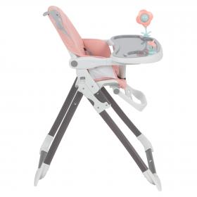 Стульчик для кормления Corol S10, цвет: розовый