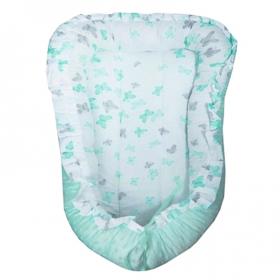Многофункциональный матрасик Гнездышко 29911 цвет: мятный/бабочки