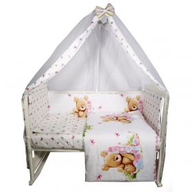 Комплект в кроватку 7 предметов Мишка с пирамидкой 10732
