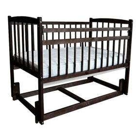 Кроватка-маятник продольный Массив Беби-3, цвет: венге