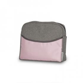 Коляска 2 в 1 Riko Basic Mario 02 цвет: серый/розовый