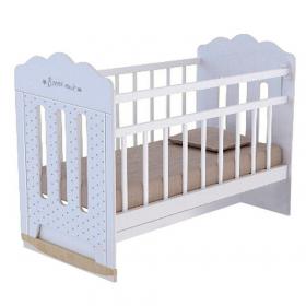 Кроватка детская ВДК Bonne, колесо-качалка+маятник цвет: белый