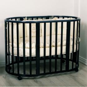 Кровать Incanto Mimi 7в1 круг-овал с маятником цвет: венге