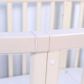 Кроватка-трансформер с маятником, овальная 7 в 1 Топотушки Селена цвет: слоновая кость