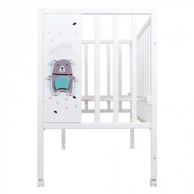 Кроватка-качалка детская ВДК Magico Loft Bear цвет: белый