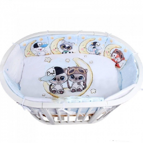 Комплект в кроватку Альма-Няня Забава На луне, мальчик 6 предметов