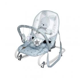 Шезлонг для новорожденных Lorelli (Top relax) Rock Star цвет: Синий/Blue Bunny 2043
