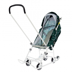 Санки-коляска Ника Умка 3-1/5 цвет: скандинавский вязаный/зеленый