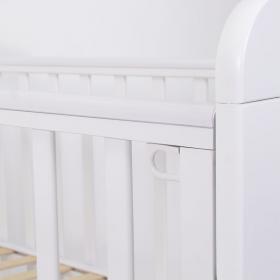 Кроватка маятник универсальный+ящик Топотушки Мария-6, сердечко цвет: белый