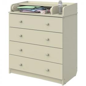Пеленальный комод Атон Сириус-2 80/4 ЛДСП 4 ящика цвет: слоновая кость