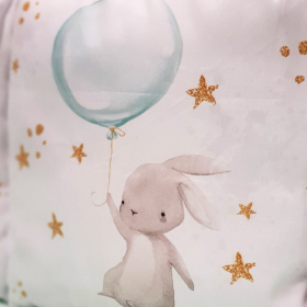 Комплект в кроватку Евротек, Панно Зайка с шариком, 6 предметов,  80151 цвет: мятный