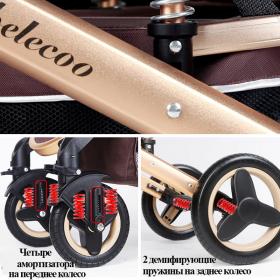 Коляска-трансформер 2 в 1 Belecoo 530S цвет: красный