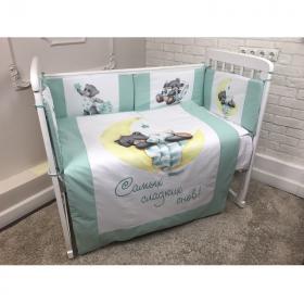 Комплект в кроватку Евротек, Самых сладких снов, 6 предметов, 40070 цвет: зеленый