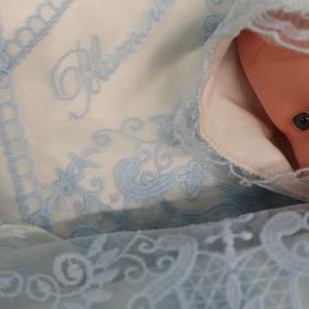 Конверт-одеяло на выписку Blumarine Велюр цвет: голубой