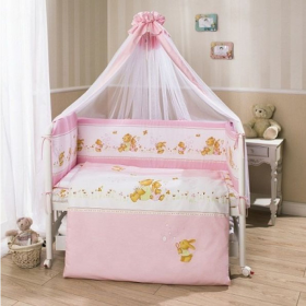 Комплект в кроватку Фея 7 предметов (Розовый) арт. Ф7-01.3