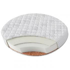 Детский матрас в круглую кроватку BamBola Round Hollo + Kokos 8 75x75x8, Микрофибра RHK-8