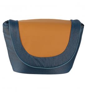 Коляска 2 в 1 Marimex Marco цвет:синий/голубой/кожа карамель
