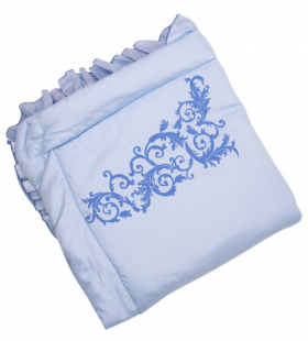 Комплект на выписку BabyGlory Ажур (зима) K022 цвет: голубой
