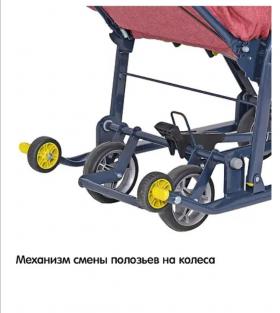 Санки-коляска Ника-Детям 7-3 цвет: красный