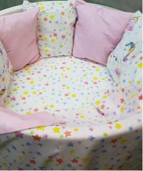 Комплект в кроватку Funny baby, Игрушки.Сказочный единорог, 6 предметов