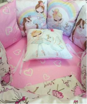 Комплект в кроватку Funny baby, Радуга.Балерина, 6 предметов