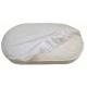 Наматрасник непромокаемый на резинке в овальную кровать, 24011 цвет: белый